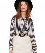 black:white stripe blouse