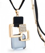 blue necklace