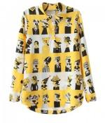 cartoon blouse