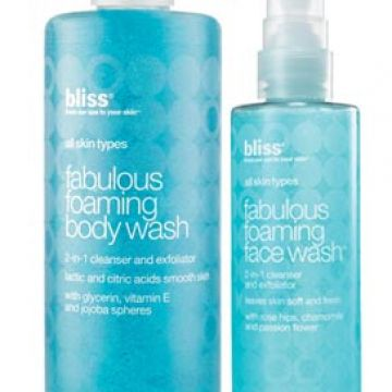 Bliss Fabulous Foaming face wash and body wash