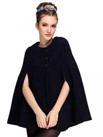 Black Bat Cape Coat