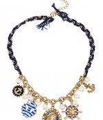 Shop the look Betsey Johnson Nautical Pin Up Girl Necklace.