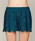 Shop the look Scalloped Lace Skort by Free People.